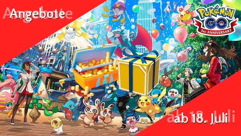Angebote im Pokémon GO Shop ab 18. Juli 11