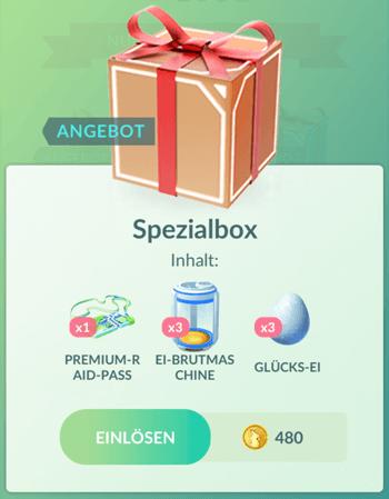 Angebote im Pokémon GO Shop im Juni 1