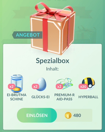 Angebote im Pokémon GO Shop zum Johto-Event 10