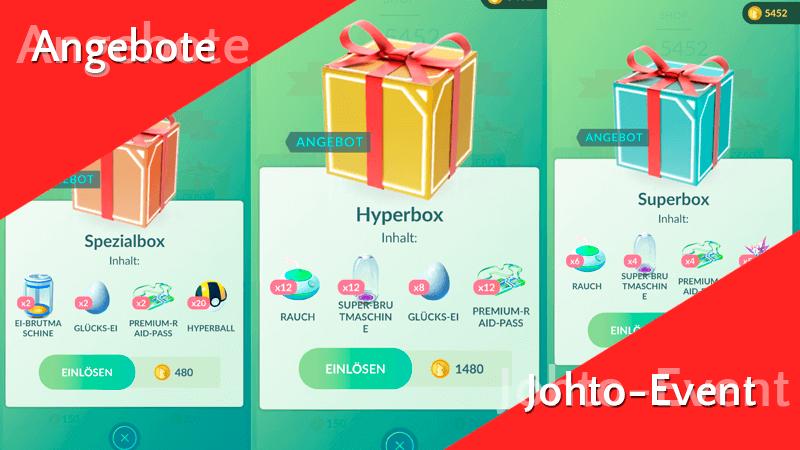 Angebote im Pokémon GO Shop zum Johto-Event 9