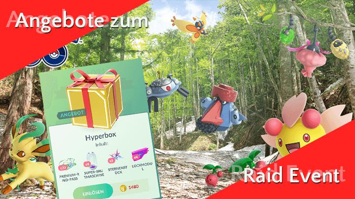 Angebote im Pokémon GO Shop zum Raid Event 11
