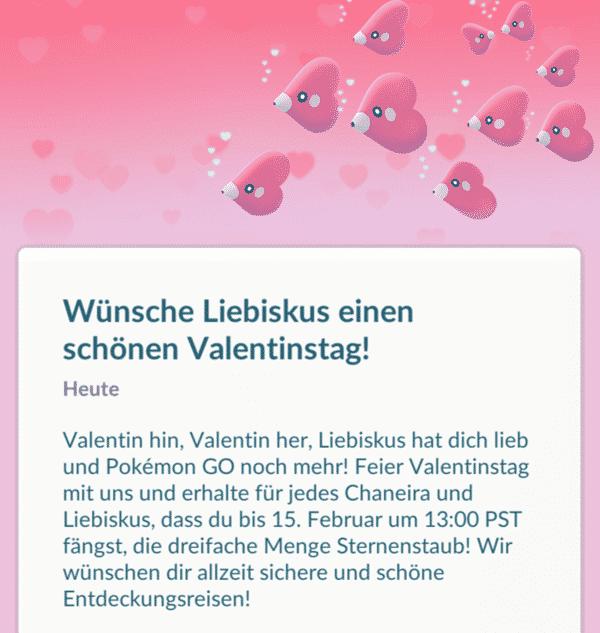 Das Valentinstagsevent 2018 in Pokémon GO 1