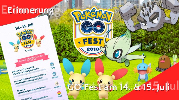 Erinnerung: Am 14. und 15. Juli ist Pokémon Go Fest 9