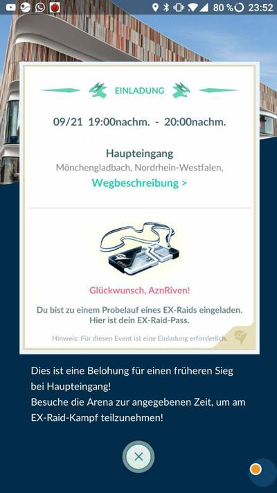 Ersten Einladungen zu Ex-Raids in Deutschland und Österreich 1