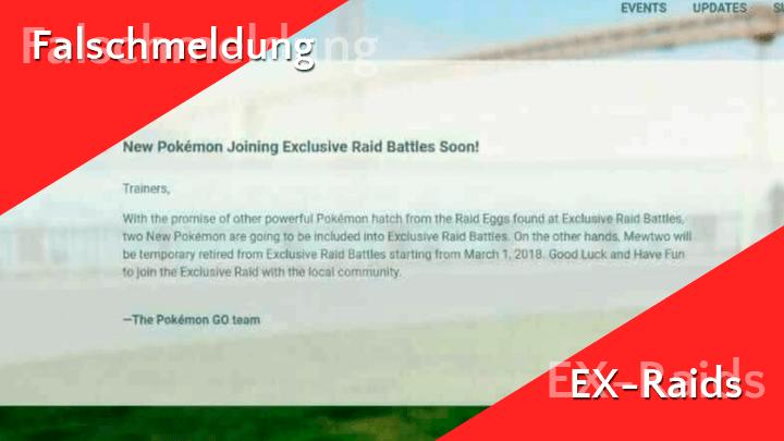 Falschmeldung: Neue EX-Raidbosse in Pokémon Go 13