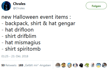 Halloween Event Leak durch Chrales 9