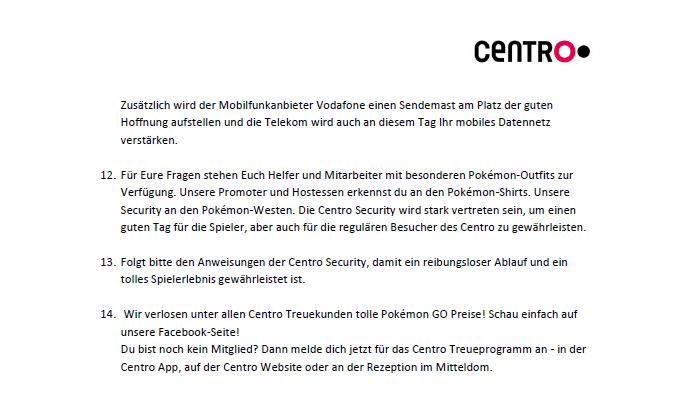 Infos zum Ablauf des Events in Oberhausen 2