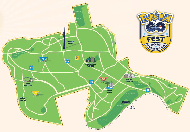 Lageplan Westfalenpark GO Fest Dortmund 1