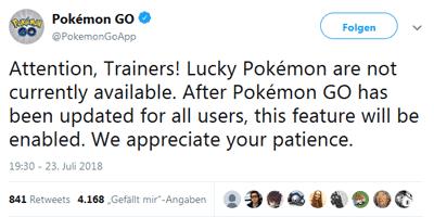 Lucky Pokémon sind noch nicht live in Pokémon GO! 10