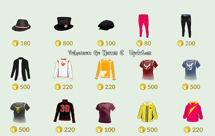Neue Kleidung in Pokemon Go 1