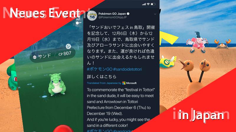 Neues Event in den Tottori Sanddünen + Shiny Sandan 14