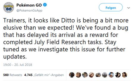 Niantic sucht verzweifelt nach Ditto 1