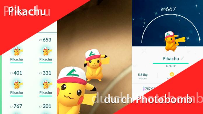 Pikachu mit Ashs Mütze durch Photobomb! 3