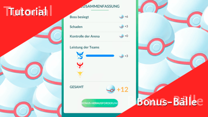 Pokémon GO Tutorial - Bonus-Bälle in Raids 1