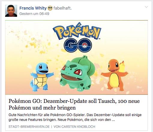Pokemon Go wird zum Jahreswechsel abgeschalten 1