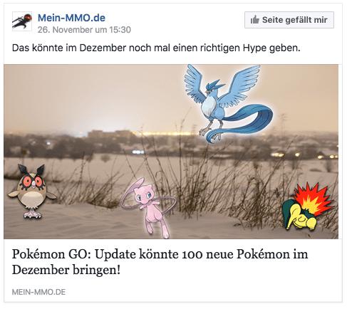 Pokemon Go wird zum Jahreswechsel abgeschalten 2