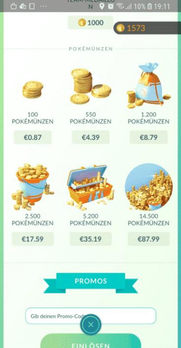 Pokémünzen im Samsung Store deutlich günstiger! 1