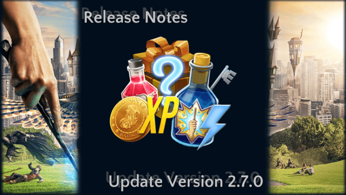 Release Notes: Update Version 2.7.0 1
