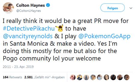 Ryan Reynolds und Colton Haynes spielen Pokémon GO? 1