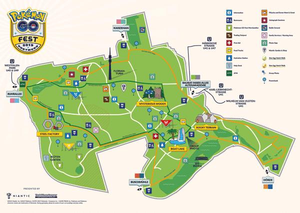 Vollständige GO Fest Dortmund Karte + Hinweise für Spieler in der Stadt 1