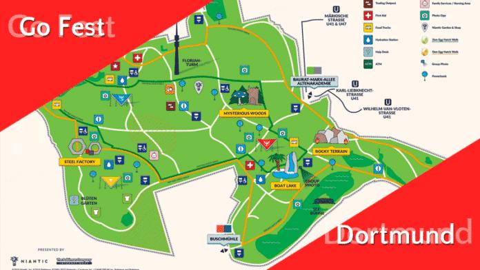 Vollständige GO Fest Dortmund Karte + Hinweise für Spieler in der Stadt 3