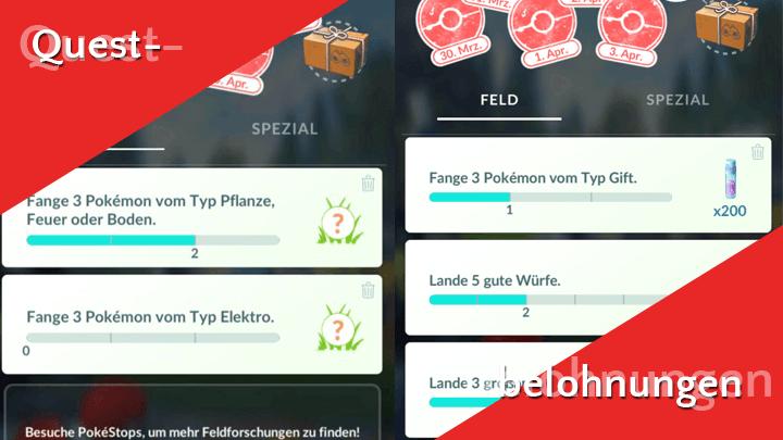 Welche Quest in Pokémon GO gibt welche Belohnung? 2