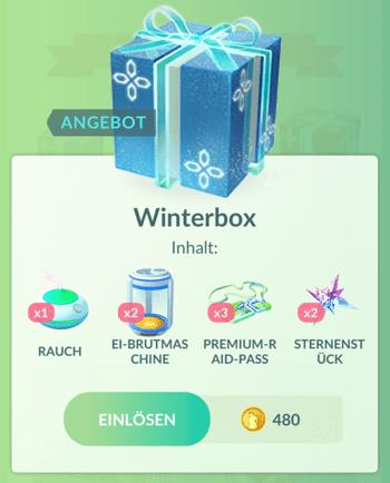Winterliche Angebote im Pokémon GO Shop 9