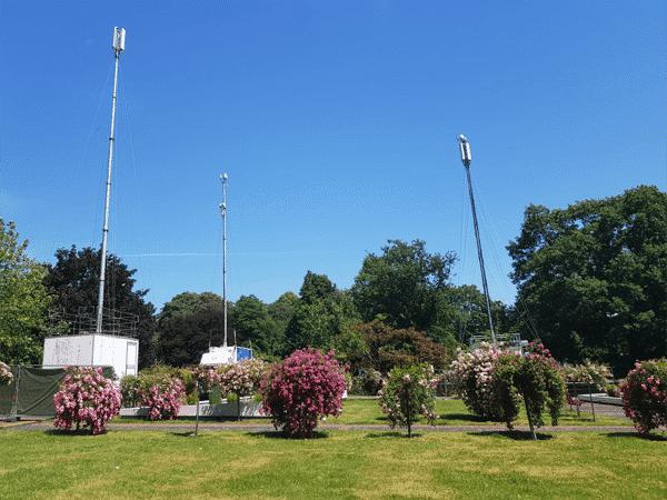 Zusätzliche Telefonmasten im Westfalenpark 15