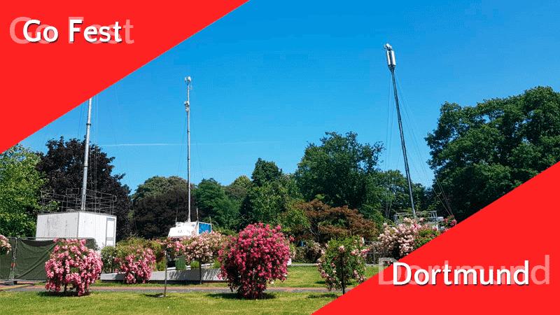 Zusätzliche Telefonmasten im Westfalenpark 14