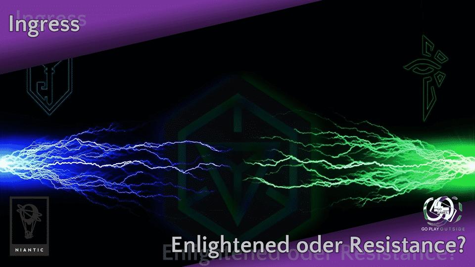 GoGames - Ingress - Enlightened oder Resistance?