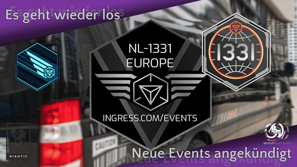 Neue Events in Ingress und dem NL 1331 Van