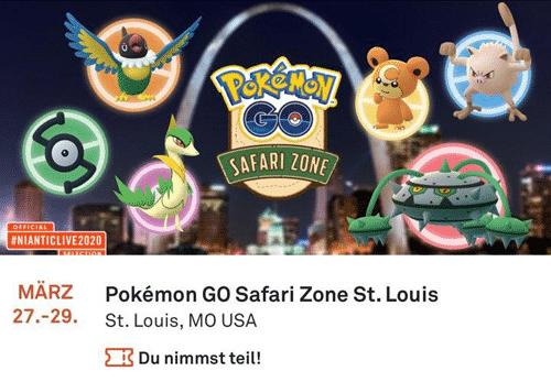 Niantic sagt Safari Zone St. Louis wegen Coronavirus ab! 2