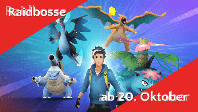 Raidbosse am 20 Oktober 2002 bei Pokémon Go Raids