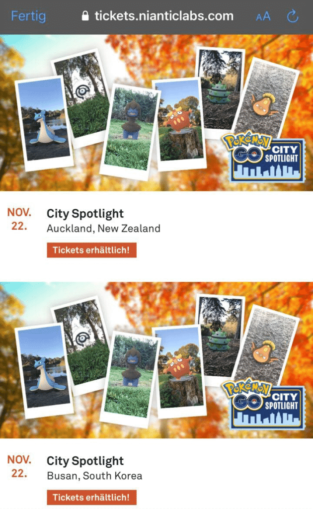 City Spotlight Events - Neue exklusive Events 1