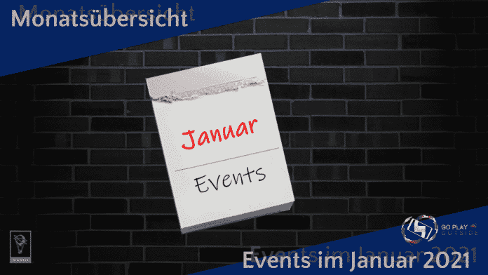 Monatsübersicht Events Januar 2021