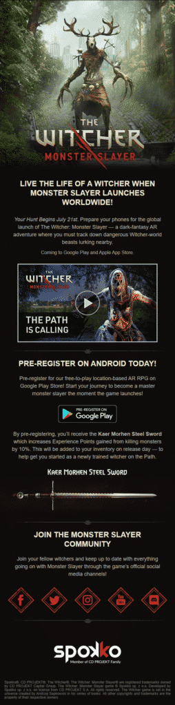 Worldwide release announced for The Witcher: Monster Slayer 2
